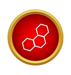 Honeycomb icon simple style vector image