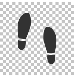 Imprint soles shoes sign dark gray icon on vector