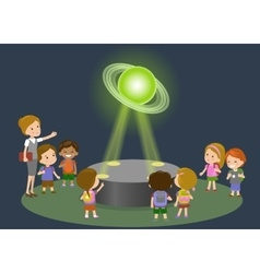 Innovation education elementary school museum vector image vector image