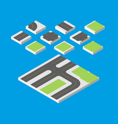 isometric road eps 10 vector image