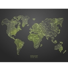 Low poly world map vector