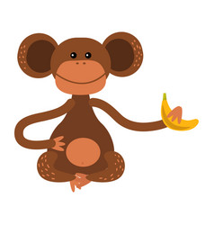 macaque monkey rare animal vector image