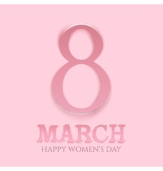 March 8 international womens day background vector image vector image