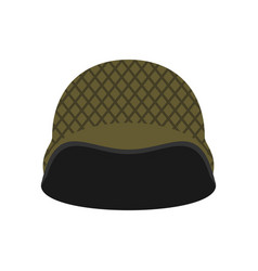 Military helmet isolated soldier protective hard vector