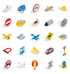 Movement icons set isometric style vector