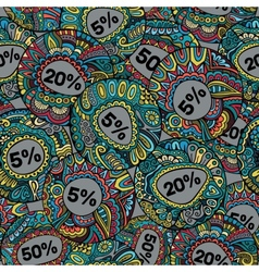 Sale decorative Labels seamless pattern vector image