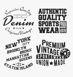 set of various vintage stamp vector image vector image