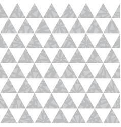 silver grey triangle textured seamless vector image vector image