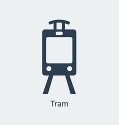 tram icon silhouette icon vector image vector image