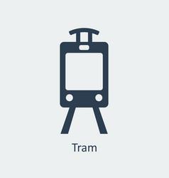 Tram icon silhouette icon vector