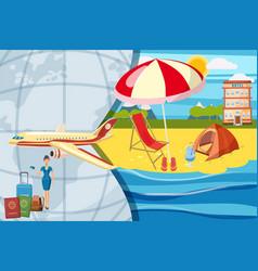 Travel tourism concept cartoon style vector