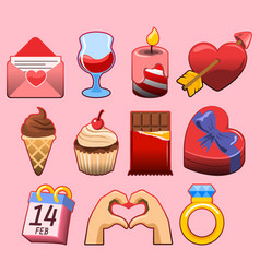 valentine day graphic collection vector image vector image