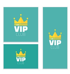 Vip club logo banner vip club members only banner vector