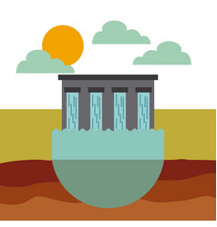 water dam icon vector image