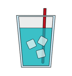 water glass icon vector image
