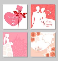 wedding card set vector image vector image