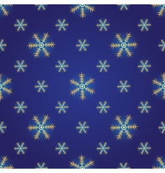 Winter dark blue seamless pattern vector