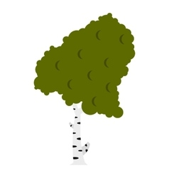 Wood birch icon flat style vector