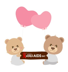 World aids day vector