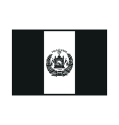 Flag of Afghanistan on white background vector image