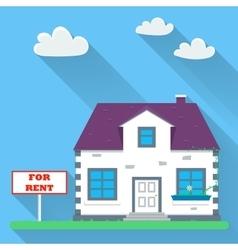 Flat real estate rental vector image