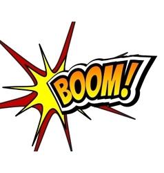 Boom comic speech bubble cartoon pop art vector
