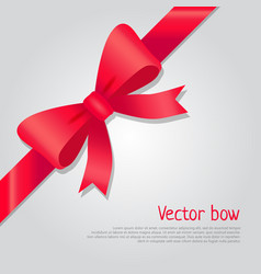 Red bow colourful ribbon cartoon style vector