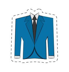 blazer suit jacket man vector image