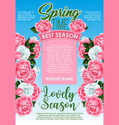 Springtime season holidays floral poster design vector