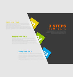 One two three - progress template vector