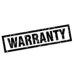Square grunge black warranty stamp vector