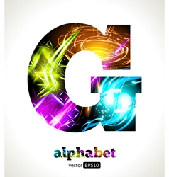 Design abstract letter g vector