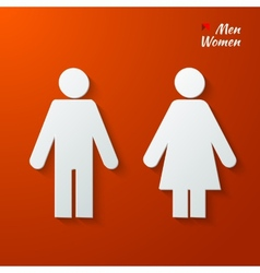 Toilet label vector