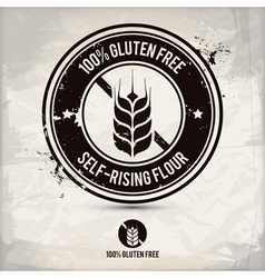 Alternative gluten free stamp vector