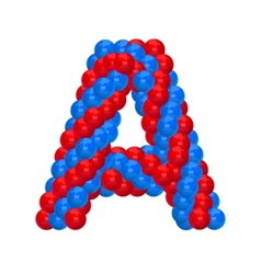 Letter a from balloon vector