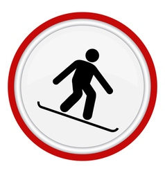 Snowboarding icon vector