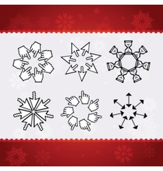 creative christmas snowflakes vector image