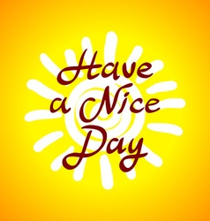 The winking sun Have a nice day card vector image