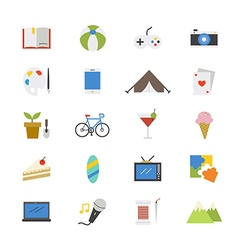 Hobbies and Activities Flat Icons color vector image