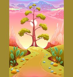 astral landscape in the sunset vector image vector image