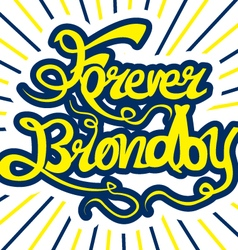Brondby If print design vector image vector image