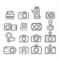 Camera icons vector