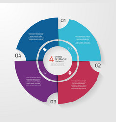 circle infographic 4 options vector image vector image