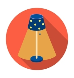 Floor lamp icon in flat style isolated on white vector