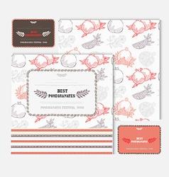 fruit cards set vector image