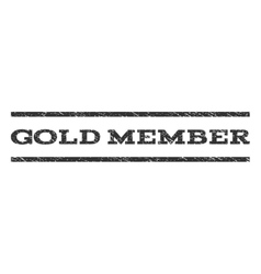Gold member watermark stamp vector