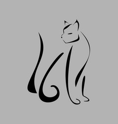 Graceful cat vector