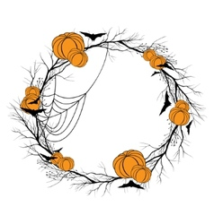 Halloween wreath vector image