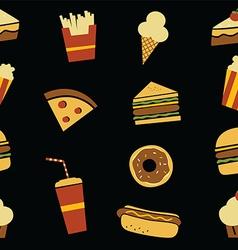 Hamburger art pattern vector