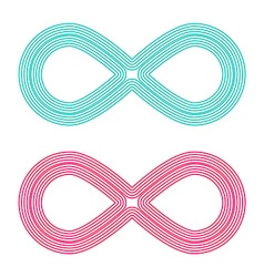 Infinity Symbol - Endless Icons Set vector image vector image